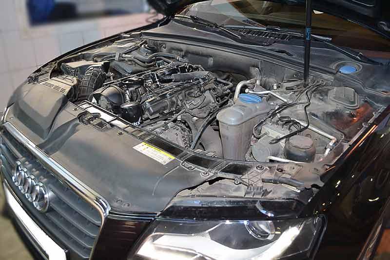 Замена масла в двигателе ауди а5